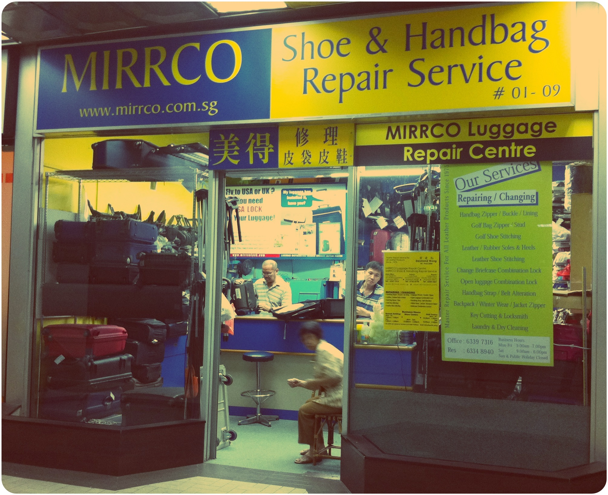 Bag Magic Workers // Mirrco Shoe and Handbag Repair Service